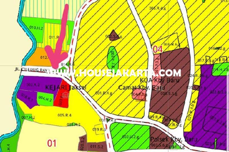 Tanah Luas 5.300m Jalan Kyai Madja Kebayoran Baru dekat Pakubuwono Dijual Bisa dibangun Gedung