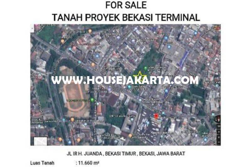 Tanah Jalan Ir. H. Juanda Bekasi Dijual Murah 7,5 juta bisa dibangun 20 Lantai