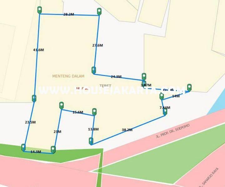 Tanah Komersial Jalan Gatot Subroto Pancoran Dijual murah 60juta/m Bisa untuk Gedung Kantor 24 lantai
