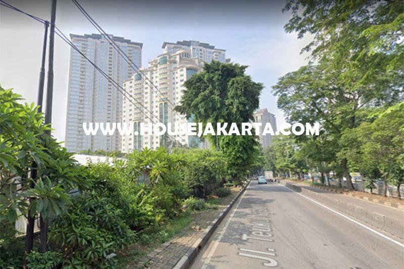 Tanah Jalan raya Teuku Nyak Arif Simprug hoek Sinabung Dijual Murah bisa 4 Lantai