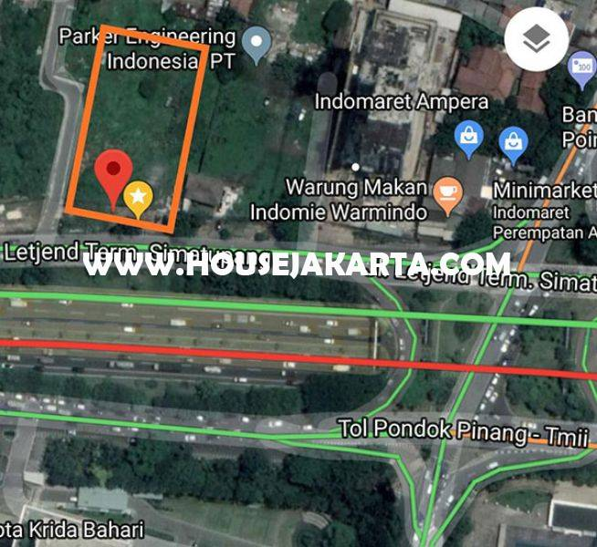 Tanah Komersial Jalan TB Simatupang Dijual Murah Seberang Gedung Trakindo ijin bisa 24 Lantai
