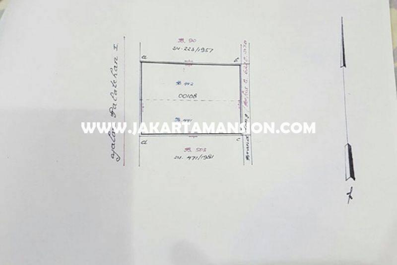 Tempat Usaha Komersial Jalan Falatehan Blok M Kebayoran baru Dijual Murah hitung tanah
