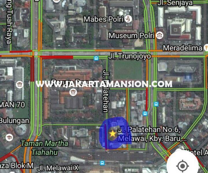 Dijual tanah Jalan Faletehan Blok M Kebayoran Baru luas 960m bisa dibangun 6 lantai