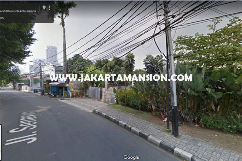 Tanah Wolter Monginsidi Jalan Senayan Dekat Senopati Kebayoran Baru Dijual bisa 8 Lantai