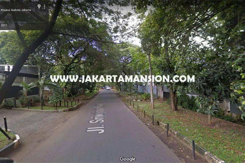 Rumah Elite Jalan Sriwijaya Senopati Kebayoran Baru Jarang ada Dijual Murah