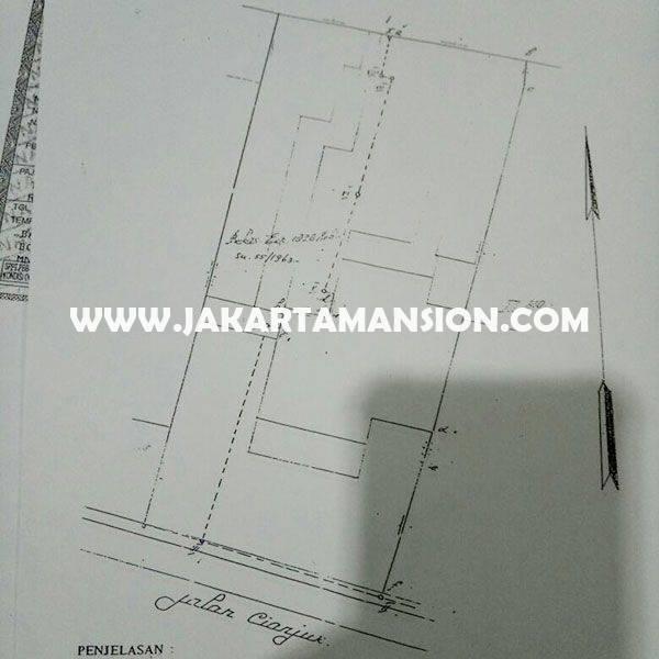 Rumah Jalan Cianjur Menteng Dijual Murah 85juta/m Tanah Kotak Golongan C