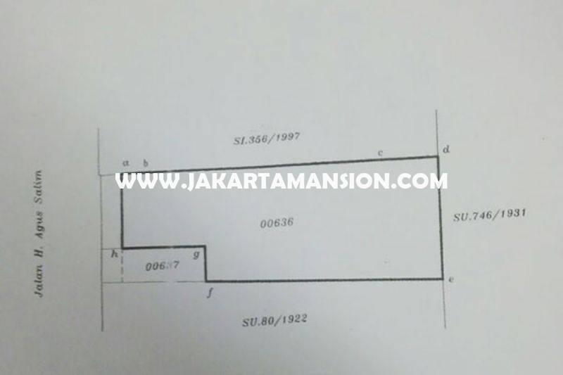 Tanah Jalan Agus Salim Sabang Menteng Dijual Murah ijin bisa Gedung 7 Lantai