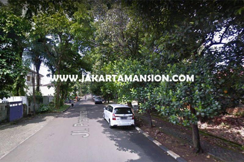 Rumah Jalan Prapanca dekat Brawijaya Kebayoran Baru daerah tenang Dijual Murah