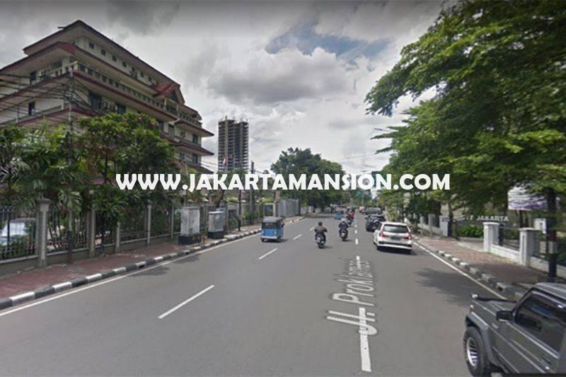 LS977 Rumah tua hitung tanah Jalan Proklamasi Menteng ijin komersial Gedung 7 Lantai Dijual Murah 35M